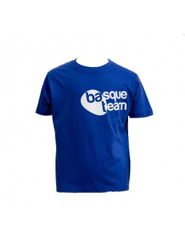camiseta basque team niños azul