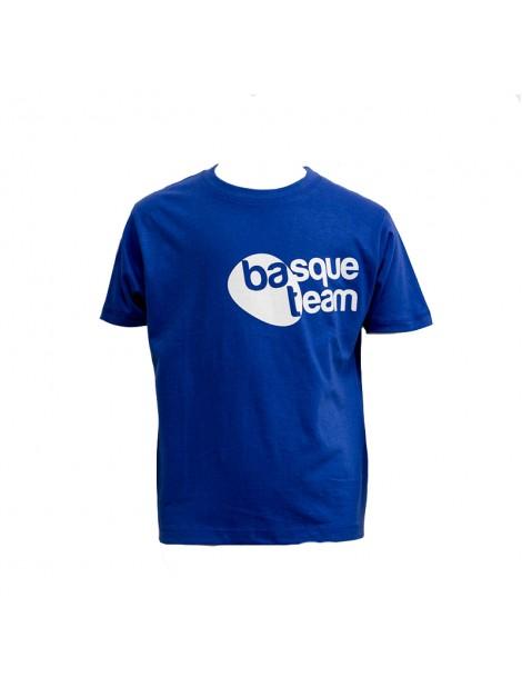 camiseta basque team niños azul