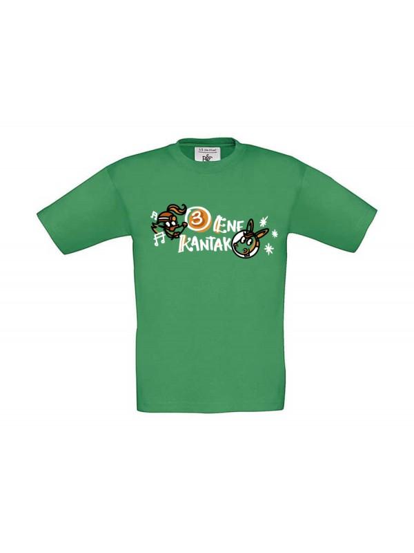 3 Ene Kantak camiseta infantil verde